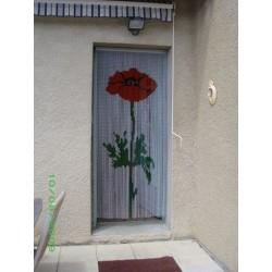 """Rideau de porte """"Coquelicot..."""