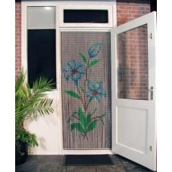 """Rideau de porte """"Bouquets..."""