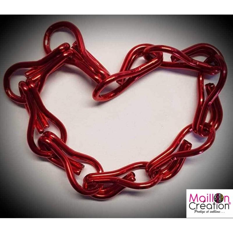échantillon de chaine rouge pour rideau de porte