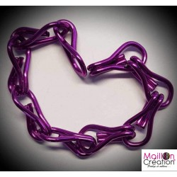 échantillon de chaine violet pour rideau de porte