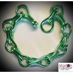 échantillon de chaine vert anis pour rideau de porte