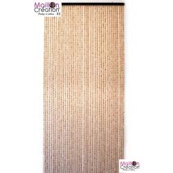 rideau de porte bambou et perle de bois
