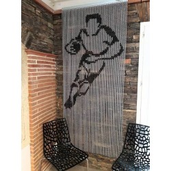"Door curtain ""Rugbyman"""