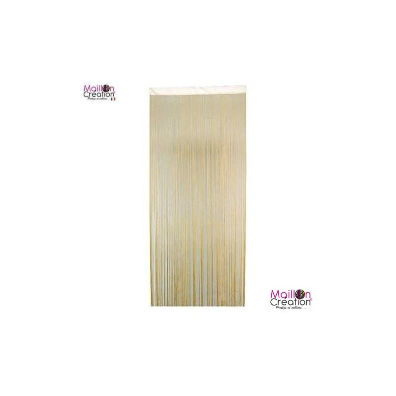 door curtain in ecru threads