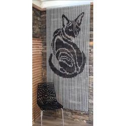 "Door curtain ""Black cat"""