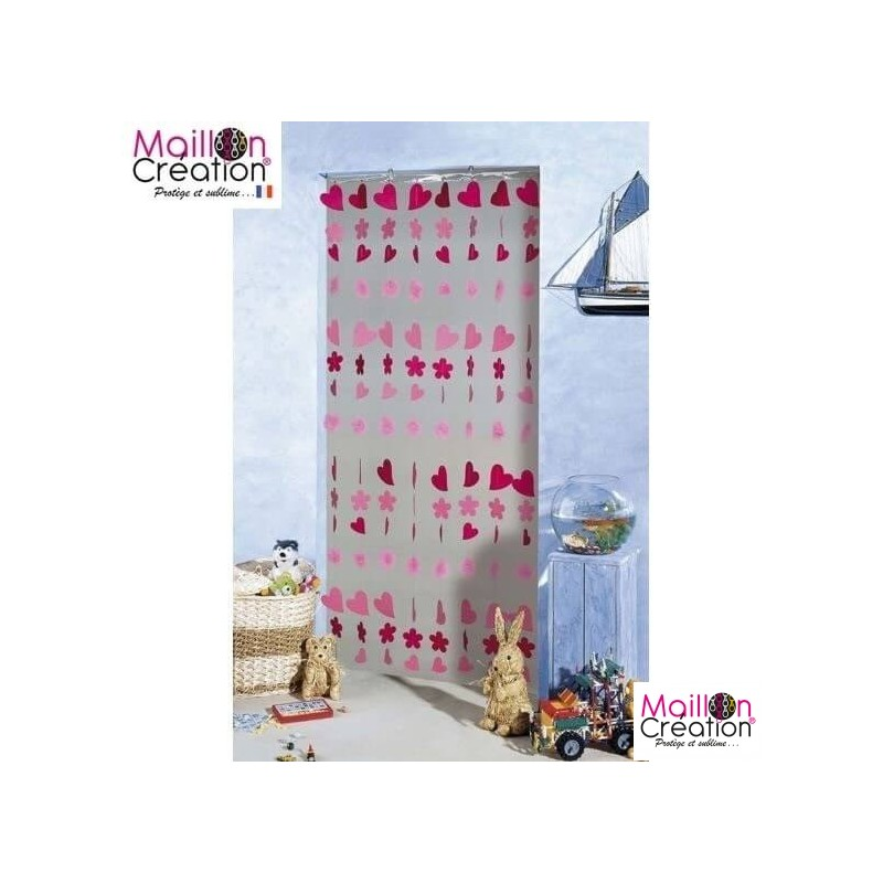 Door with hearts and pompons Morel - 1