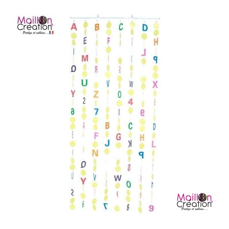 Alphabet curtain