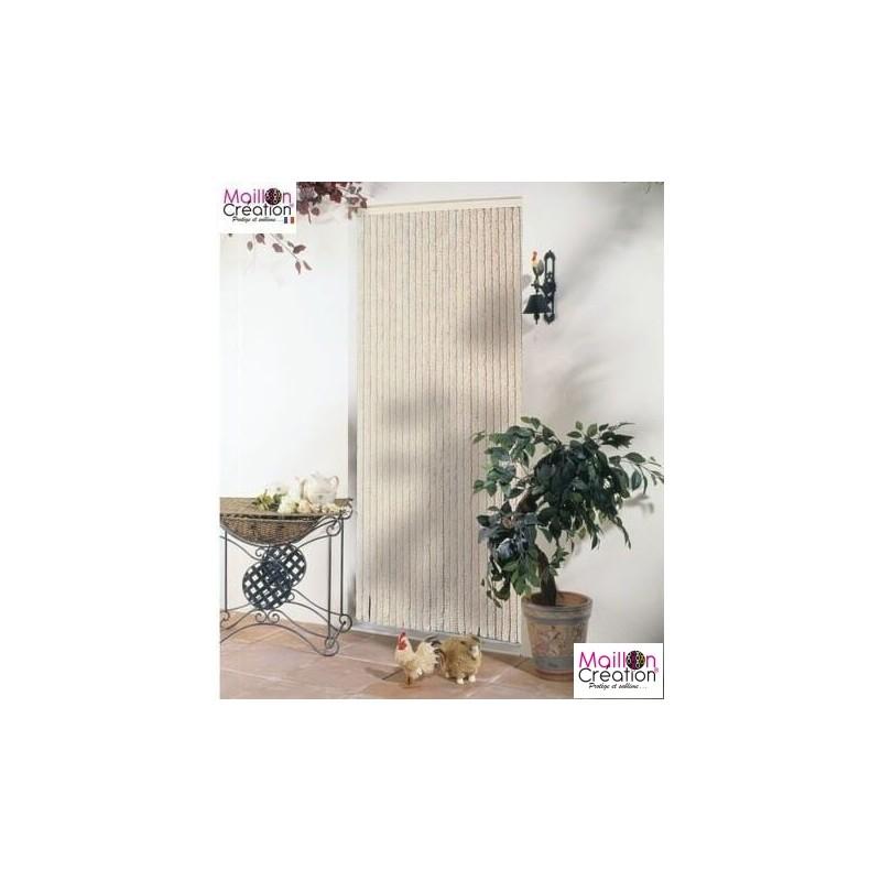rideau de porte chenille beige