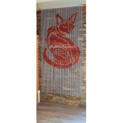 "Door curtain ""Red cat"""
