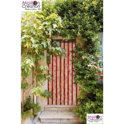 cherry chenille door curtain