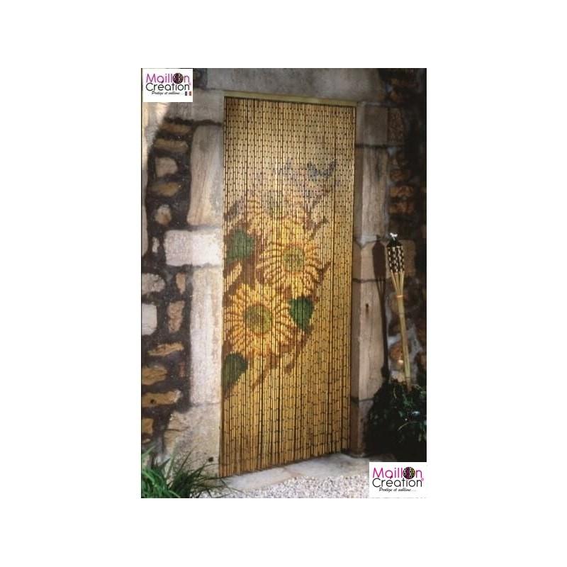 Sunflower door curtain Morel - 1