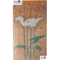 BAMBOO Curtain Arum Flowers Morel - 2