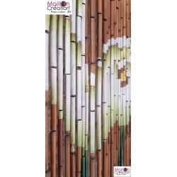 BAMBOO Curtain Arum Flowers Morel - 3