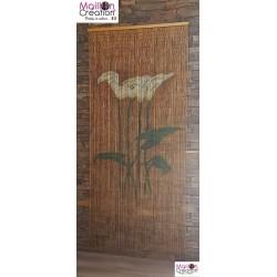BAMBOO Curtain Arum Flowers Morel - 4