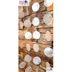 decorative curtain made of natural mother-of-pearl