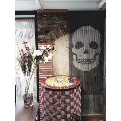 """Skull"" door curtain"