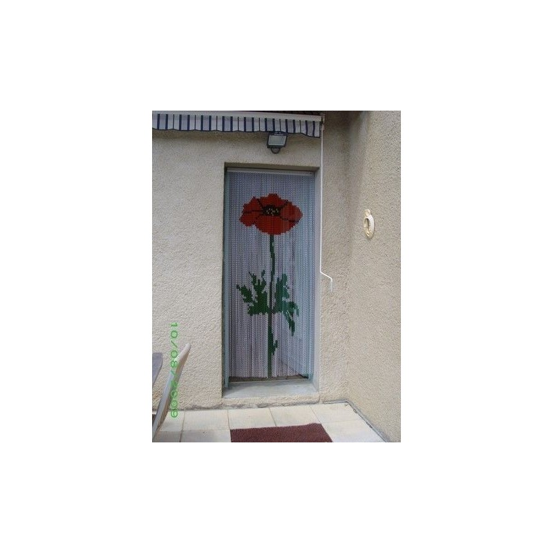 "Door curtain ""Poppy design"""