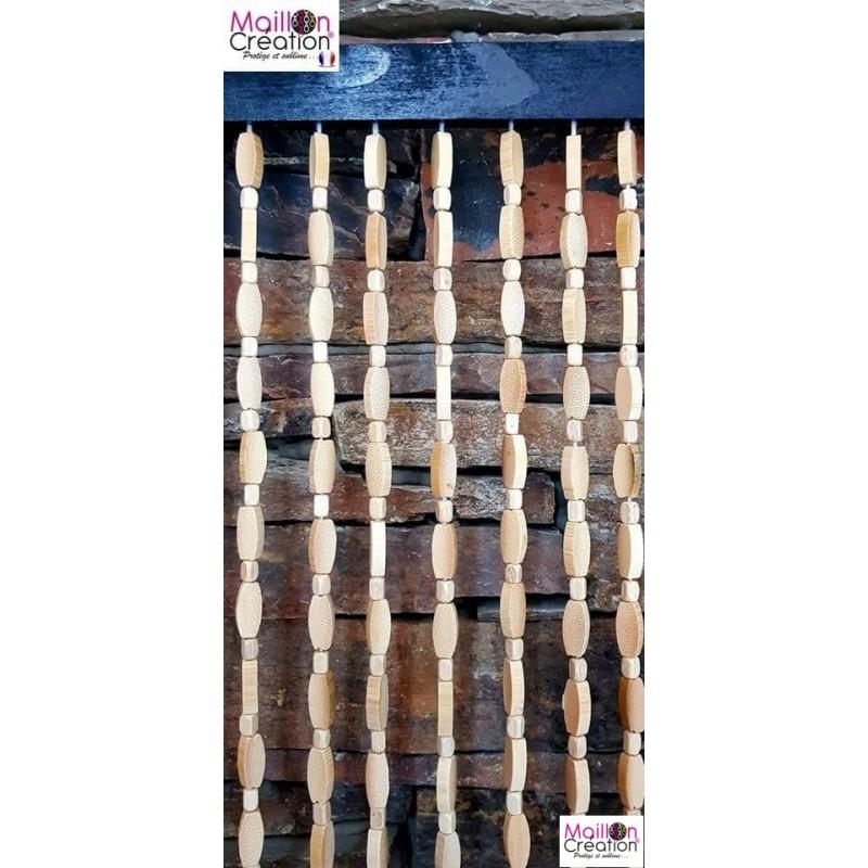 rideau de porte perle de bois