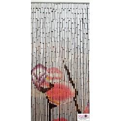 barre du rideau en bambou