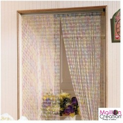 Multicolored pearl door curtain