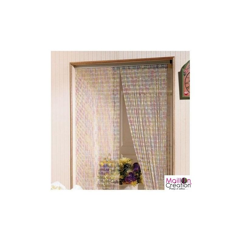 Multicolored pearl door curtain