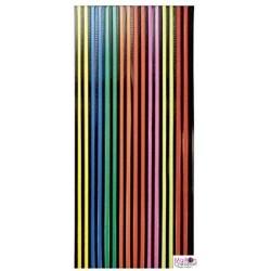 rideau plastique multicolore