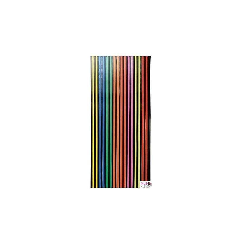 rideaux plastique multicolore