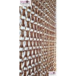 rideau de porte en chainette aluminium marron