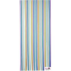 Multicolored strip door curtain Morel - 1