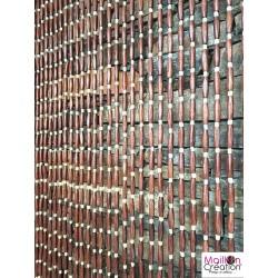 rideau de porte en perle de bois