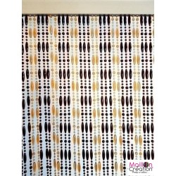 Pearl curtain - Mireille 90 x 220 Morel - 2