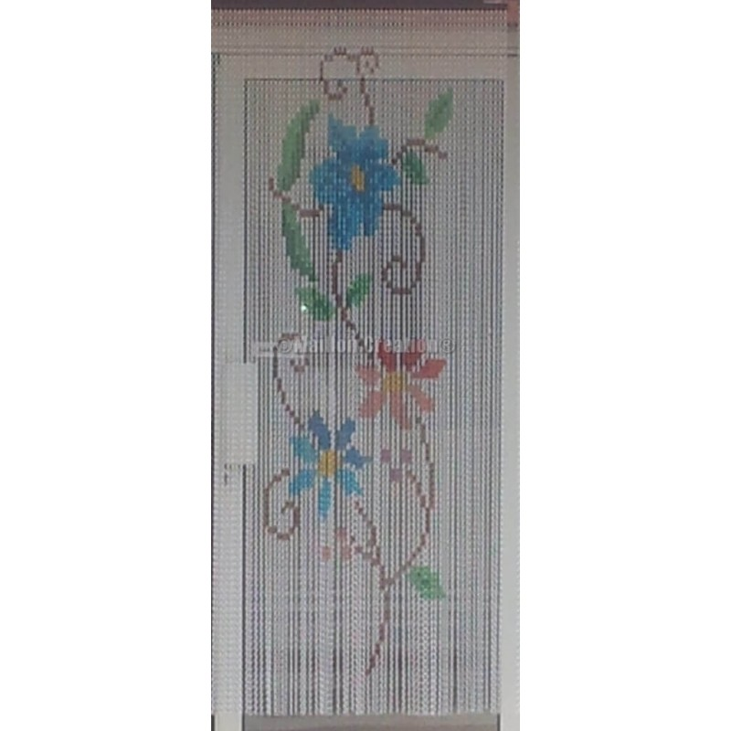 "Door curtain ""Branch of flowers"""