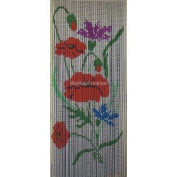 "Door curtain ""Poppy wildflowers"""