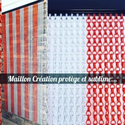 MC curtain - B Silver and red Maillon Création - 2