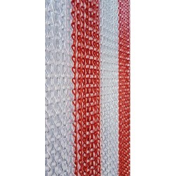 MC curtain - B Silver and red Maillon Création - 3