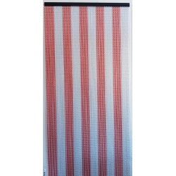 MC curtain - B Silver and red Maillon Création - 4
