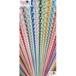 Rideau de porte en chaîne alu multicolore