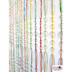 rideau portière perles