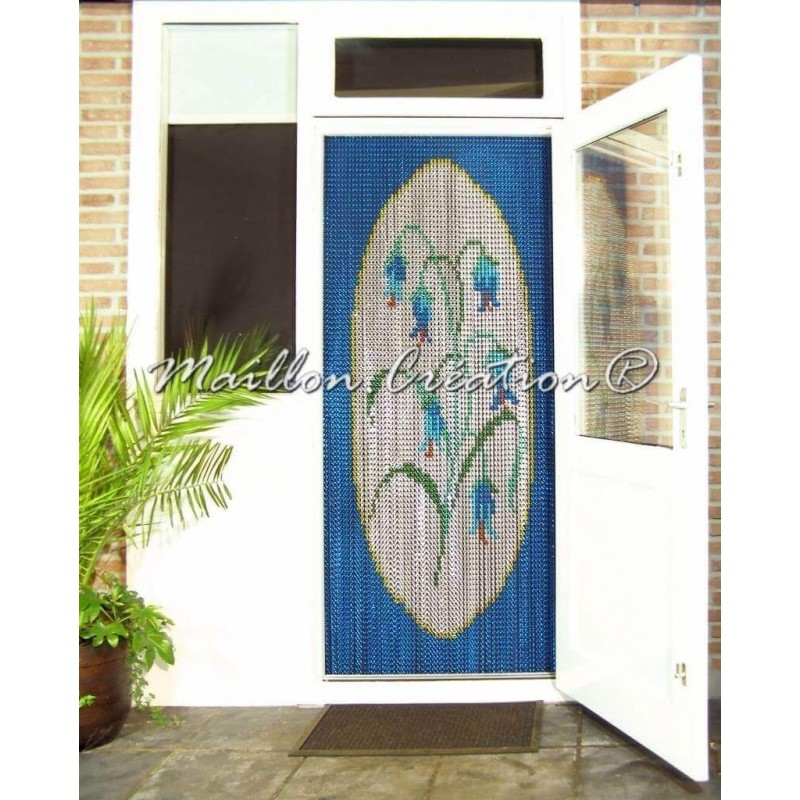 "Door curtain ""Blue bells"""