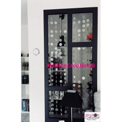 rideau de porte en nacre naturelle