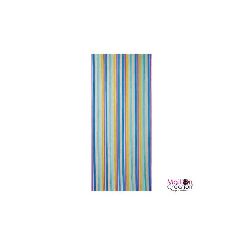 rideau de porte en matière lanière plastique