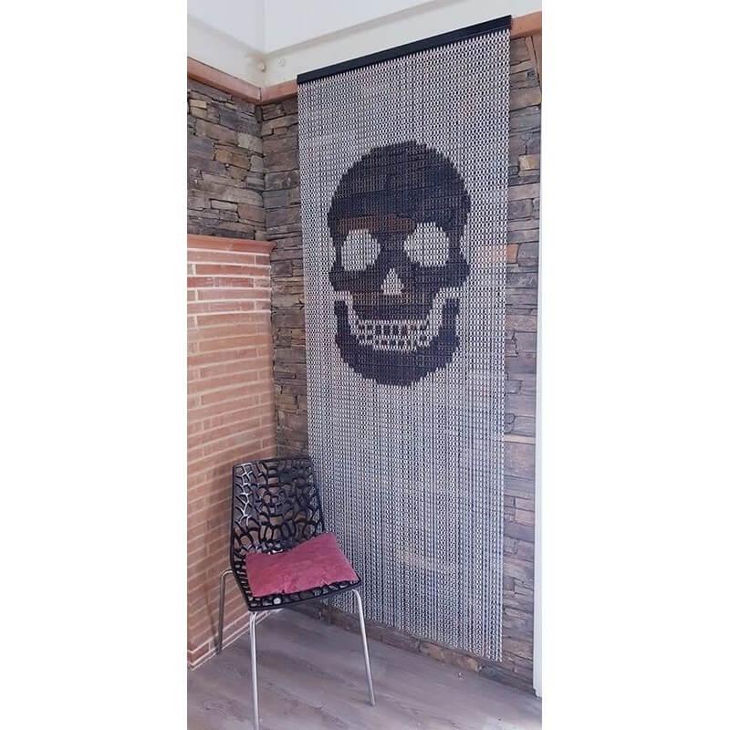 rideau de porte Skull