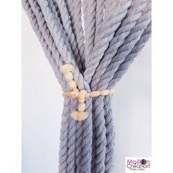 gray rope door curtain