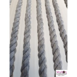 gray rope decorative curtain