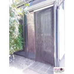 rideau de porte extérieur en lanière plastique