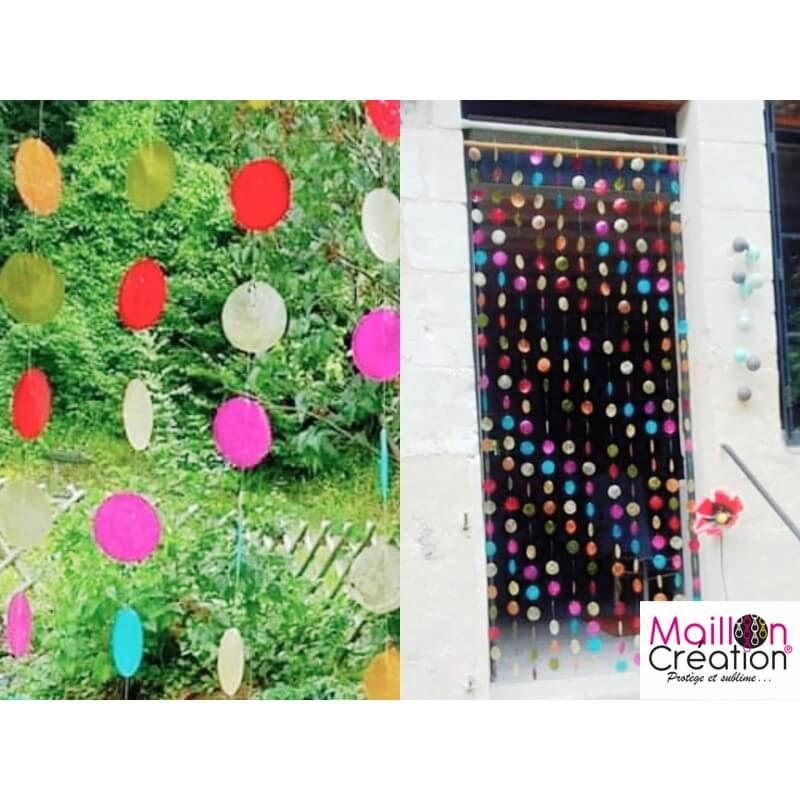 multicolored mother of pearl door curtain