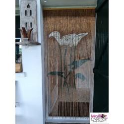 "Bamboo curtain with ""Arum"" design"