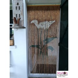 "Rideau bambou avec dessin ""Arum"""