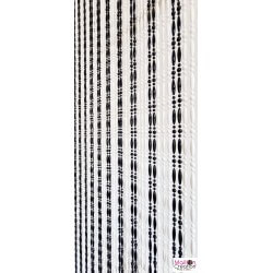 white and black pearl curtain