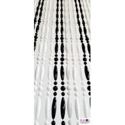 rideau perlé blanche et noire